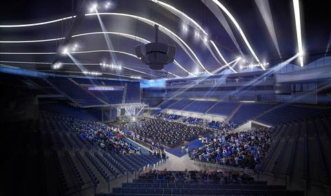 A rendering of the proposed DePaul University arena.