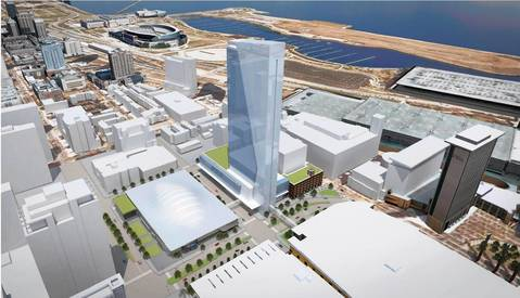 The proposed McCormick Place headquarters hotel.