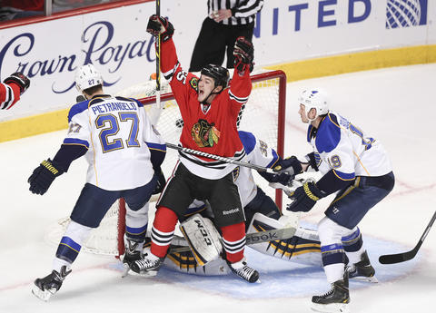 Andrew Shaw: Game 4 vs. Blues.
