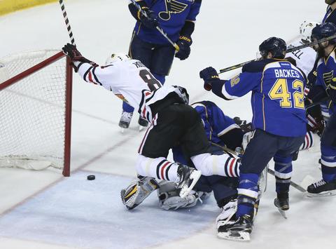 Marian Hossa: Game 5 vs. Blues.