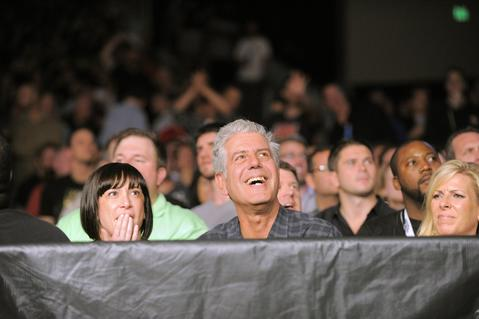 Anthony Bourdain at UFC 172.