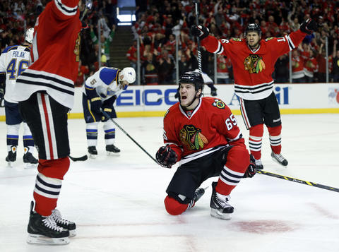 Andrew Shaw: Game 6 vs. Blues.