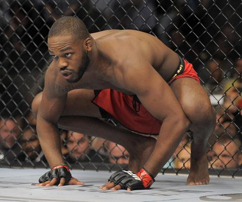 Jon Jones gets ready to pounce before his title fight against Glover Teixeira.