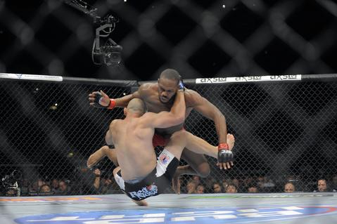 Jon Jones and Glover Teixeira collide.
