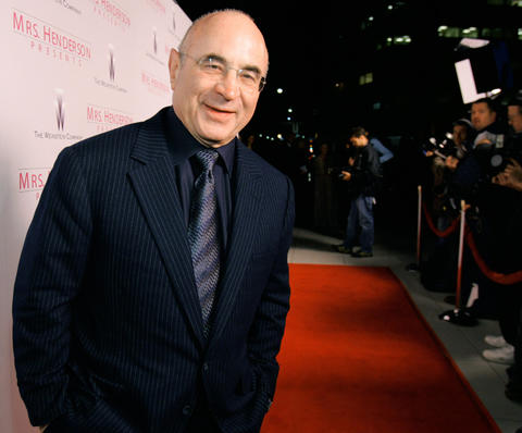 "Bob Hoskins arrives at the Los Angeles premiere of ""Mrs Henderson Presents"" at the Fine Arts theatre in Beverly Hills. He died at 71."