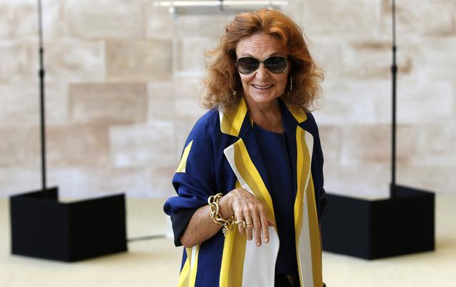 Fashion designer Diane Von Furstenberg attends a ceremony to open the Anna Wintour Costume Center.