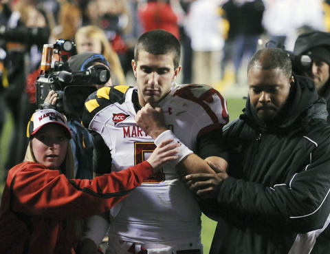 Notre Dame walloped the Terps at FedEx Field, 45-21, knocking out quarterback Danny O'Brien in the process. O'Brien was lost for the season and never suited up for Maryland again, transferring in the offseason.