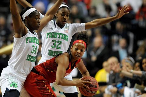 The teams met again in the 2014 national semifinals in Nashville, and this one wouldn't be nearly as close. Unbeaten Notre Dame cruised to a 87-61 victory behind 28 points from Kayla McBride, setting up a national title game against fellow undefeated UConn.