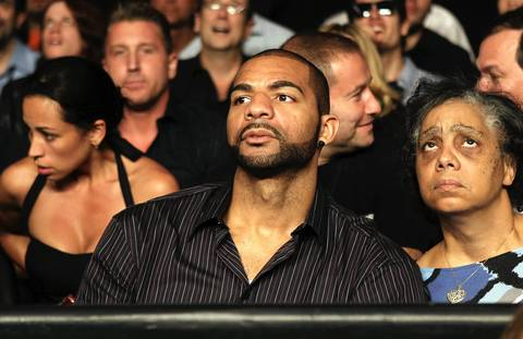 Carlos Boozer attends the match between Bernard Hopkins and Chad Dawson in their WBC and Ring Magzine light heavyweight title fight at Staples Center.