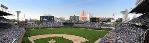 A rendering released by the Chicago Cubs shows proposed outfield changes.