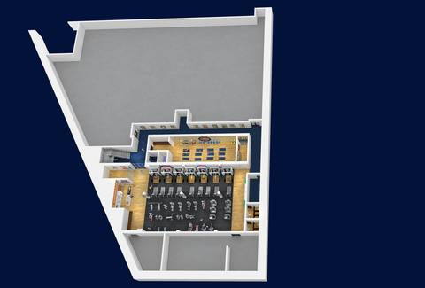 A rendering released by the Chicago Cubs shows a proposed lower clubhouse at Wrigley Field.
