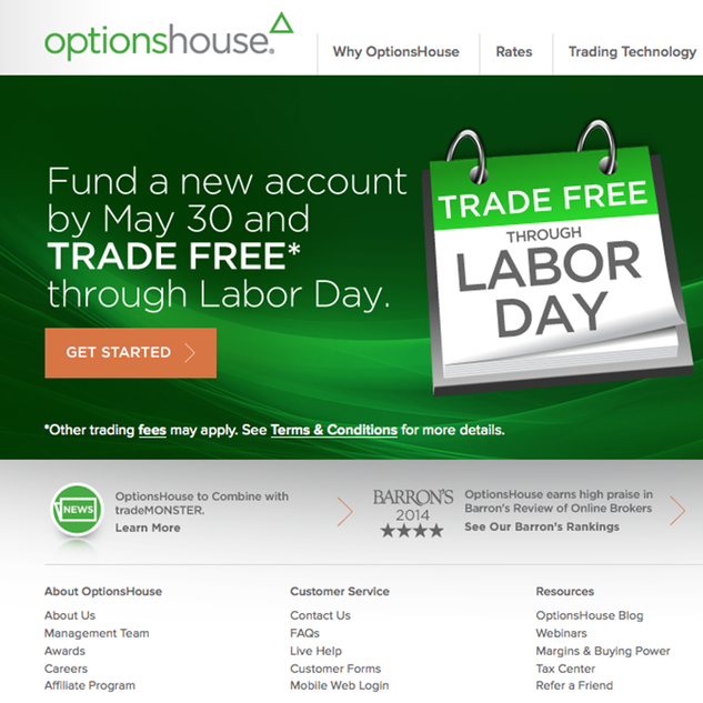 Virtual trading with optionshouse