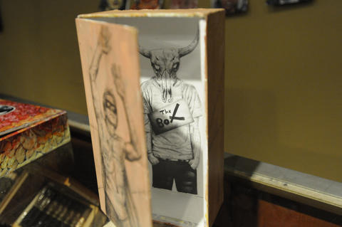 Jacob Carrigan's cigar box creation.