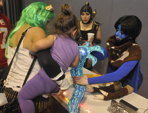 Characters meet and greet at Hartford Comic Con at the XL Center Saturday.