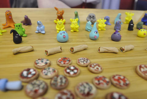 Clay toys at Hartford Comic Con at the XL Center Saturday.