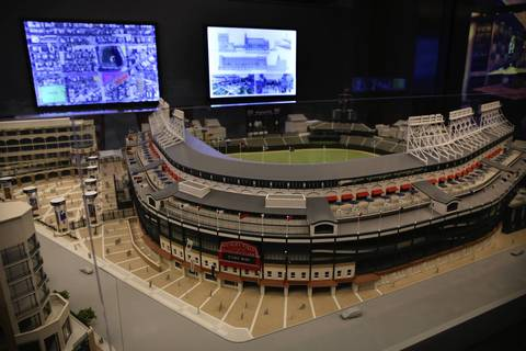 The model of Wrigley Field expansion plans.