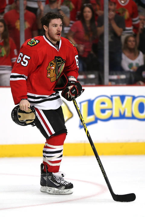 F Andrew Shaw, 22, signed through 2015-16, $2 million cap hit Chris Kuc says: Gritty player is a bargain at $2 million and is expected to be key contributor.