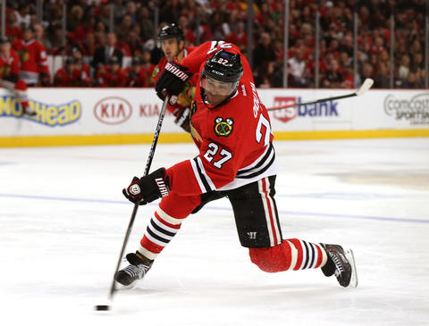 D Johnny Oduya, 32, signed through 2014-15, $3.38 million cap hit Chris Kuc says: Solid, but GM Stan Bowman could deal veteran at NHL draft to free up cap space.