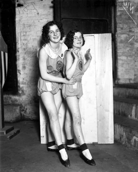 Jeanne and Marjorie Burke, who lived in the Austin neighborhood at 225 N. Mason Avenue, were pupils of the Ned Wayburn School of Dancing at the Eighth St. Theatre, circa June 6, 1930.