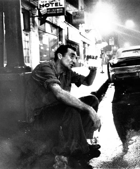 Skid Row regular Robert Taylor on West Madison Street in Chicago, circa July 5, 1969.