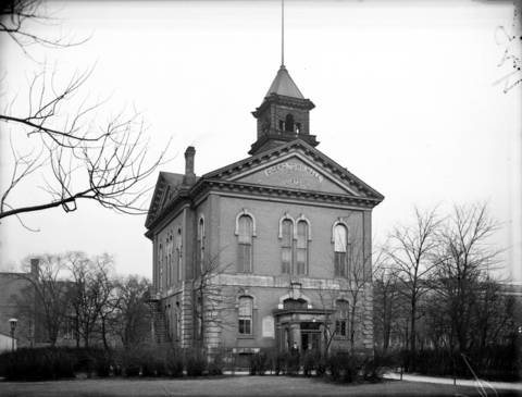 Cicero Town Hall in Austin, circa Feb. 6, 1928. Originally, Austin was within the Township of Cicero and Cicero decided to place it's seat of government in Austin. Berwyn and Oak Park, which were also in Cicero Township, resented Austin's government dominance and forced the annexation of Austin into Chicago in 1899.