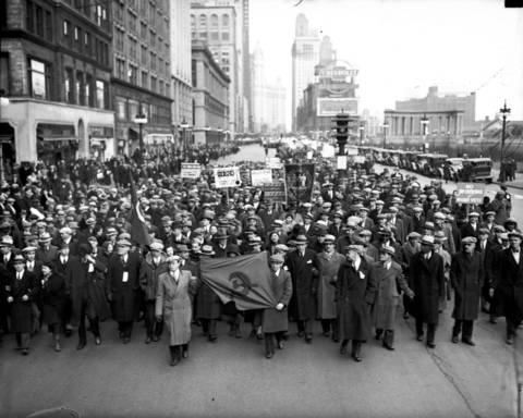 The Unemployment Parade in Chicago, circa March 4, 1933.