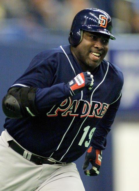 Former San Diego Padres' Tony Gwynn.