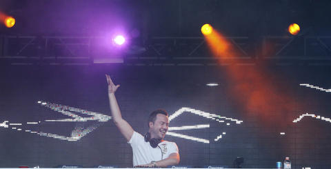 DJ Sander Van Doorn performs at Spring Awakening, a three-day electronic dance music festival, held at Soldier Field in Chicago.