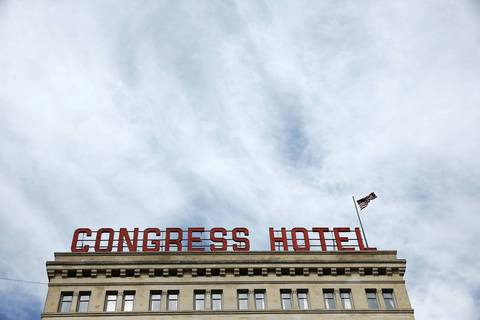 he Congress Plaza Hotel at 520 S. Michigan Ave.