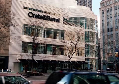 The Crate&Barrel store on Michigan Avenue.