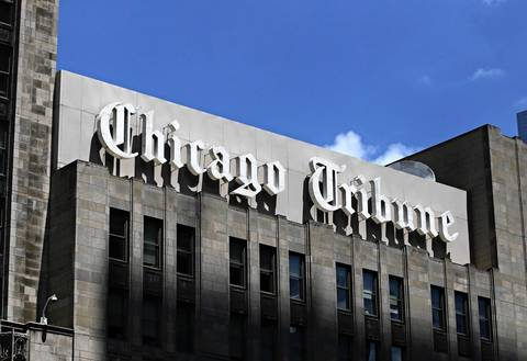 The Chicago Tribune at 435 N. Michigan Ave.