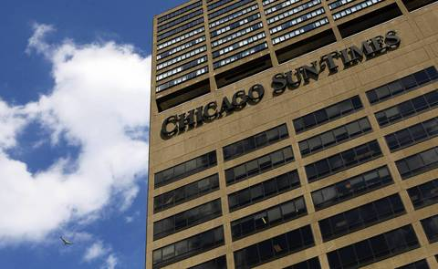 The Chicago Sun-Times after it moved from Wabash Avenue to the River North Point building at 350 N. Orleans.