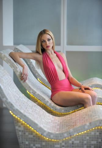 Chrissy: Lenny Niemeyer swimsuit, $290, lennyniemeyer.com/usa. Earrings, $165, bracelet, $265, both from Amaryllis.