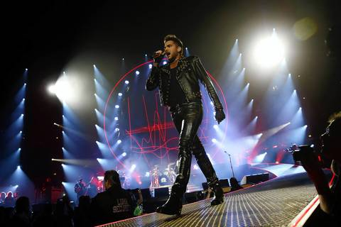 Adam Lambert performs with Queen at United Center in Chicago.