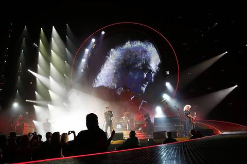 Queen and Adam Lambert perform at United Center in Chicago.