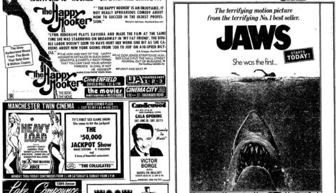 """JAWS,"" credited with being the first summer blockbuster action film, was released on June 20, 1975. The Stephen Spielberg directed movie, shot mostly on Martha's Vineyard, quickly became the highest-grossing film in history at the time."