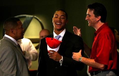 2008: PG Derrick Rose, No. 1.