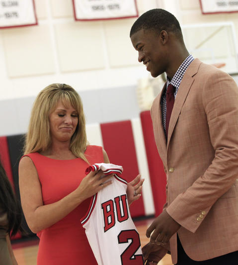2011: PG Norris Cole, No.28; SF/SG Jimmy Butler, No. 30.
