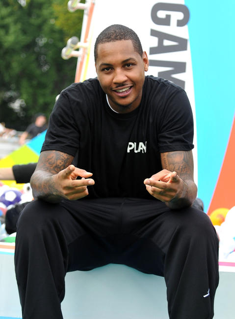 Carmelo Anthony celebrates Nickelodeon's largest ever Worldwide Day of Play at the Ellipse in Washington, D.C.