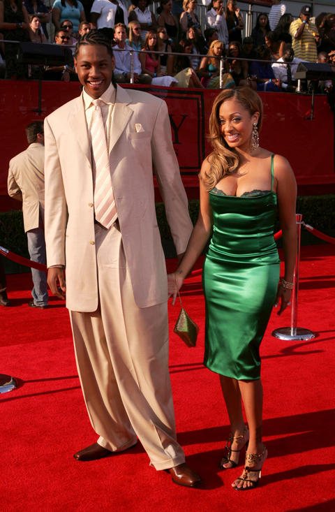 Carmelo Anthony and his fiancee, MTV VJ LaLa Vasquez, arrive at the 13th Annual ESPY Awards at the Kodak Theatre.