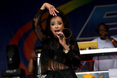Mya performs at Chicago Pride Fest.