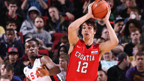 Saric isn't supposed to leave Europe for two more years, so any team that picks him will have to wait to see just how productive he can be. The 6-10 Croatian has the ability to push the ball as a point forward when necessary and is a skilled passer for his size as well. A scoring small forward is the primary need of the Hawks, who rely heavily on shooting guard Kyle Korver.