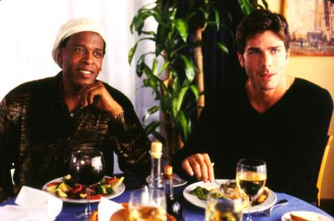 "Meshach Taylor, left, with Greg Lauren in the 2001 comedy ""Friends and Family."""