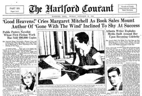 "Margaret Mitchell's ""Gone With The Wind"" was published June 30, 1936. The book was a smash hit, with a movie already in the works when it won the Pulitzer Prize for fiction in 1937. More than 30 million copies have been printed worldwide."
