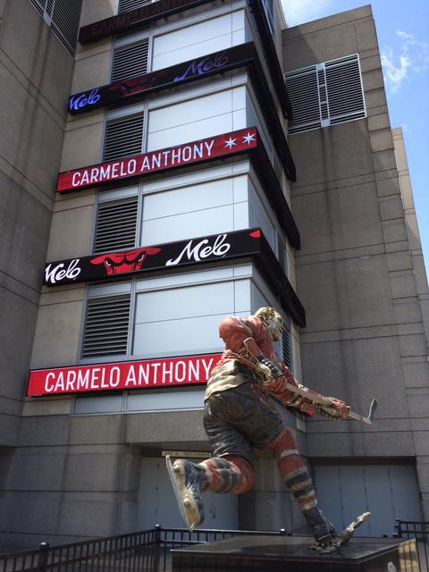 The United Center welcomes Carmelo Anthony on Tuesday.
