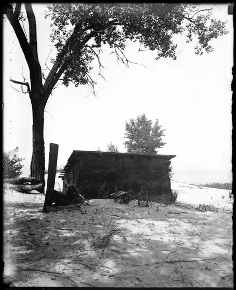"""According to an interview with the Tribune in 1916, Alice Gray lived in a little 10 x 20 shack she named """"Driftwood."""" The shack was a sand-floored, abandoned hut before Gray moved in."""