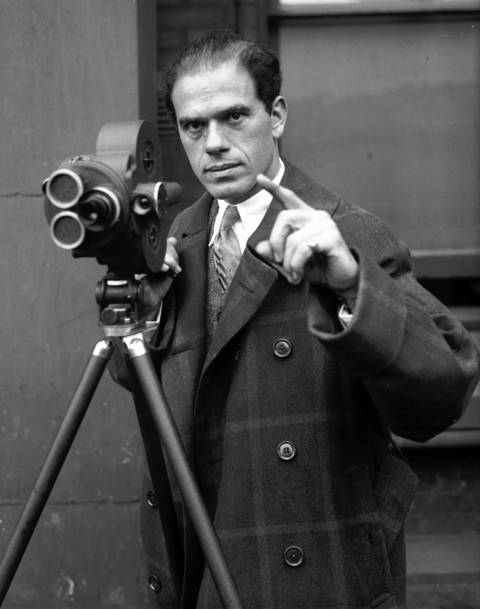 "Movie director Frank Capra, Dec. 29, 1931. Capra was one of America's most powerful movie directors in the 1930s, and successful for decades afterwards. A few of his most famous films include: ""You Can't Take it With You""; ""Mr. Smith Goes to Washington""; and ""It's a Wonderful Life."""