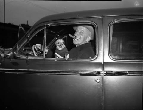 "Comedian, perfomer, actor, singer, songwriter Jimmy Durante, November 15, 1947. Wrote the song ""Inka Dinka Doo"" and known for the catch phrase ""Hotch-cha-cha-cha-cha."""