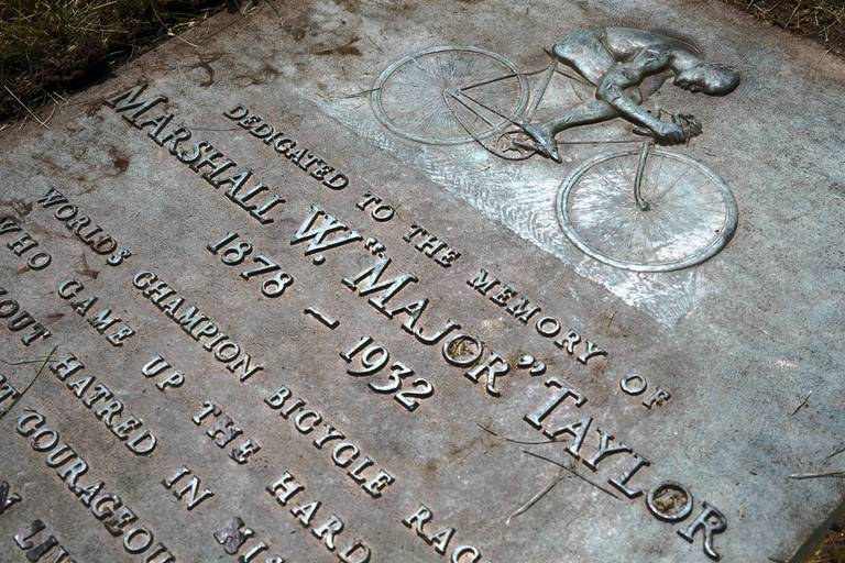 Gravesite Of Bicyclist Major Taylor At The Mount Glenwood Memory Gardens Cemetery In