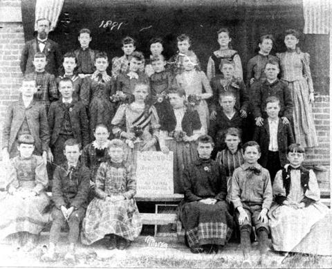 1891: The Old North Side School class of 1891 in Des Plaines.
